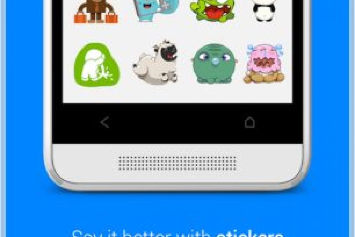 También puedes enviar stickers. Foto:Messenger