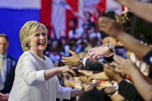 Hillary Clinton se volvió la primera mujer en Estados Unidos que logró ser candidata. Foto:AP