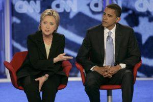 El 7 de junio Clinton decidió retirarse de la campaña y pidió a sus seguidores apoyar a Obama. Foto:AP