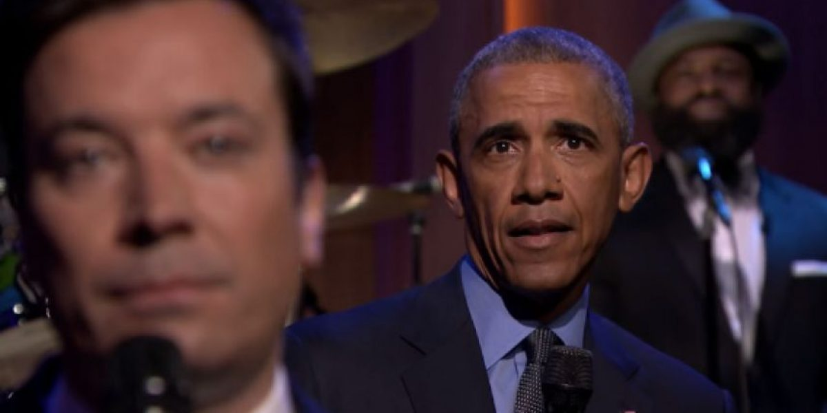 Barack Obama y Jimmy Fallon dieron las noticias de una forma muy peculiar