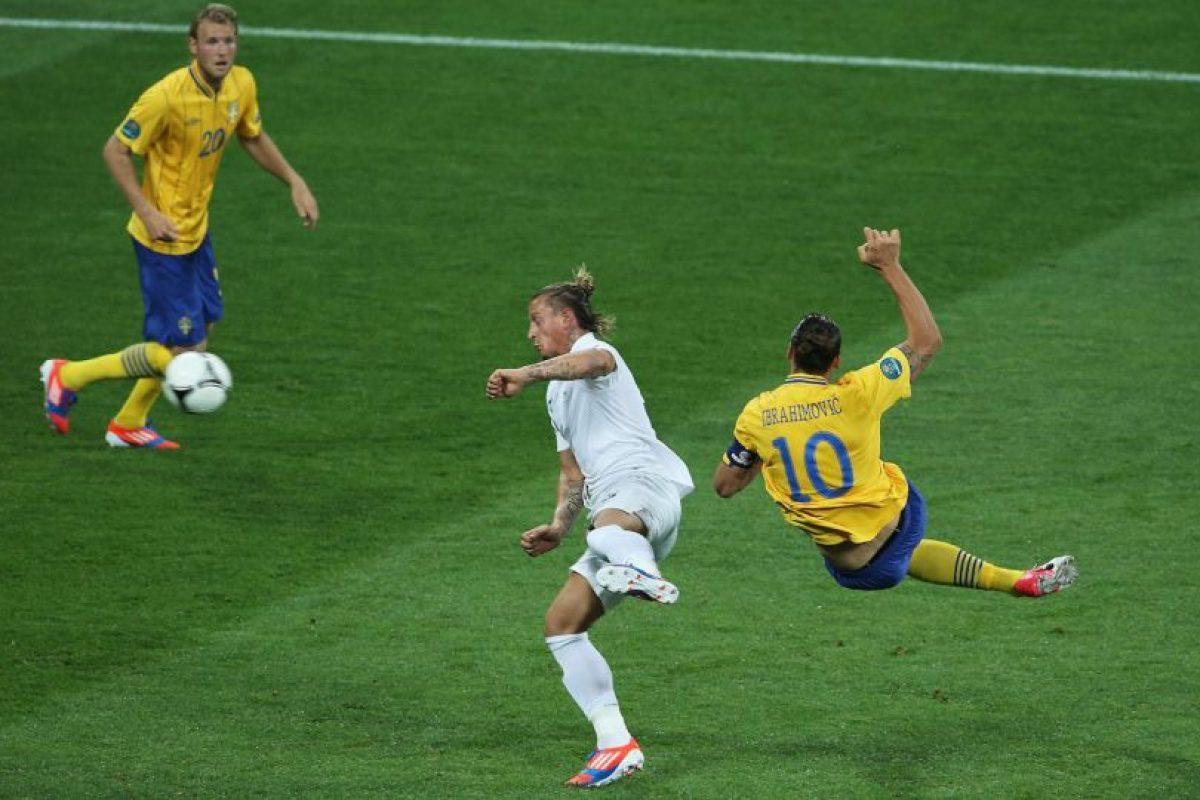 Ibracadabra demostró una vez más su gran plasticidad al marcar ante Francia Foto:Getty Images