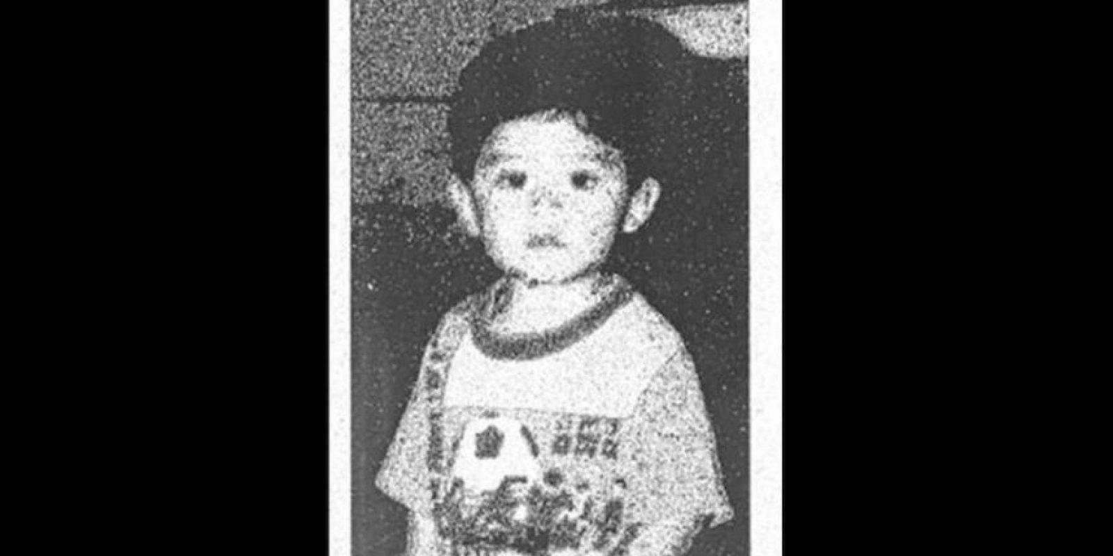 Así era Steve Hernández cuando fue secuestrado por su propio padre en 1995. Foto:Oficina del Fiscal de Distrito del Condado de San Bernardino
