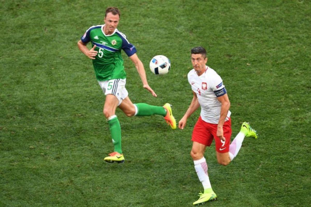 La selección polaca obtuvo sus primeros tres puntos contra Irlanda del Norte. Foto:AFP