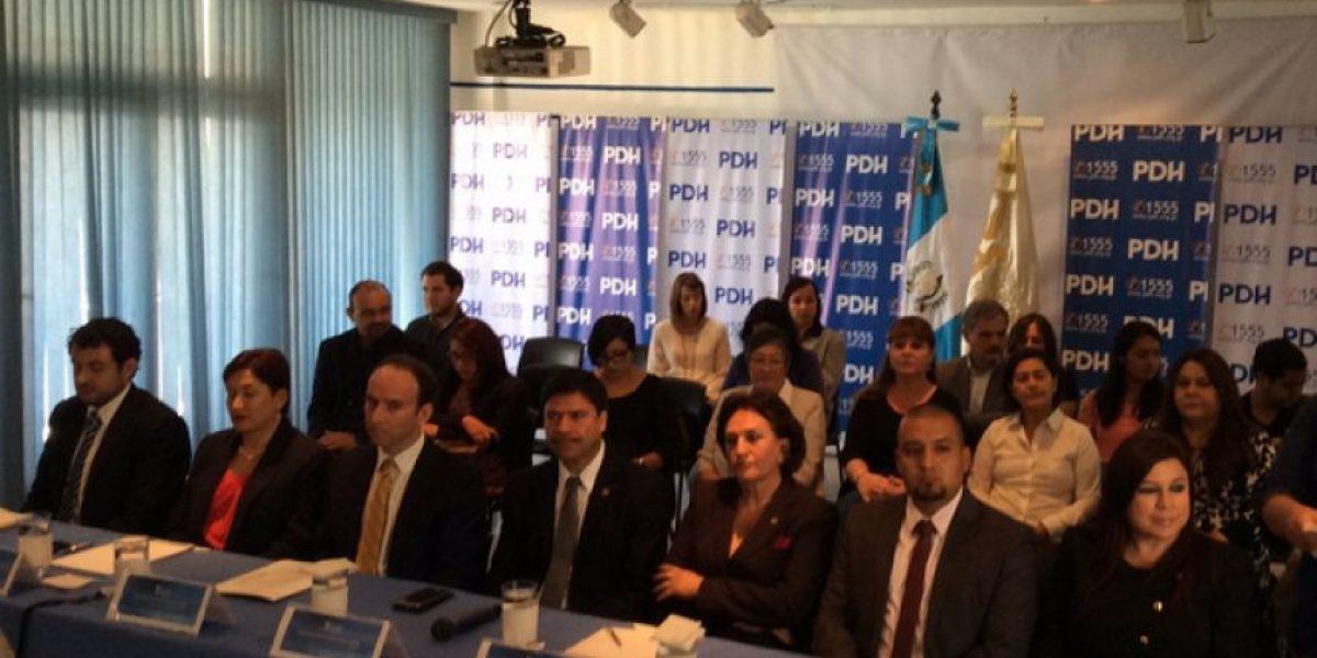 PDH y organizaciones respaldan trabajo de servidores públicos