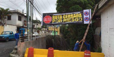 Cierre de vía alterna hacia Santa Catarina Pinula está vigente