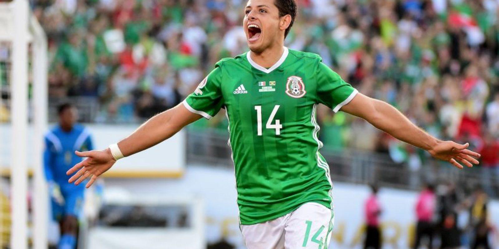 Chicharito ha sido un pilar de los aztecas para ganar por 3 a 1 a Uruguay y 2 a 0 a Jamaica Foto:Getty Images