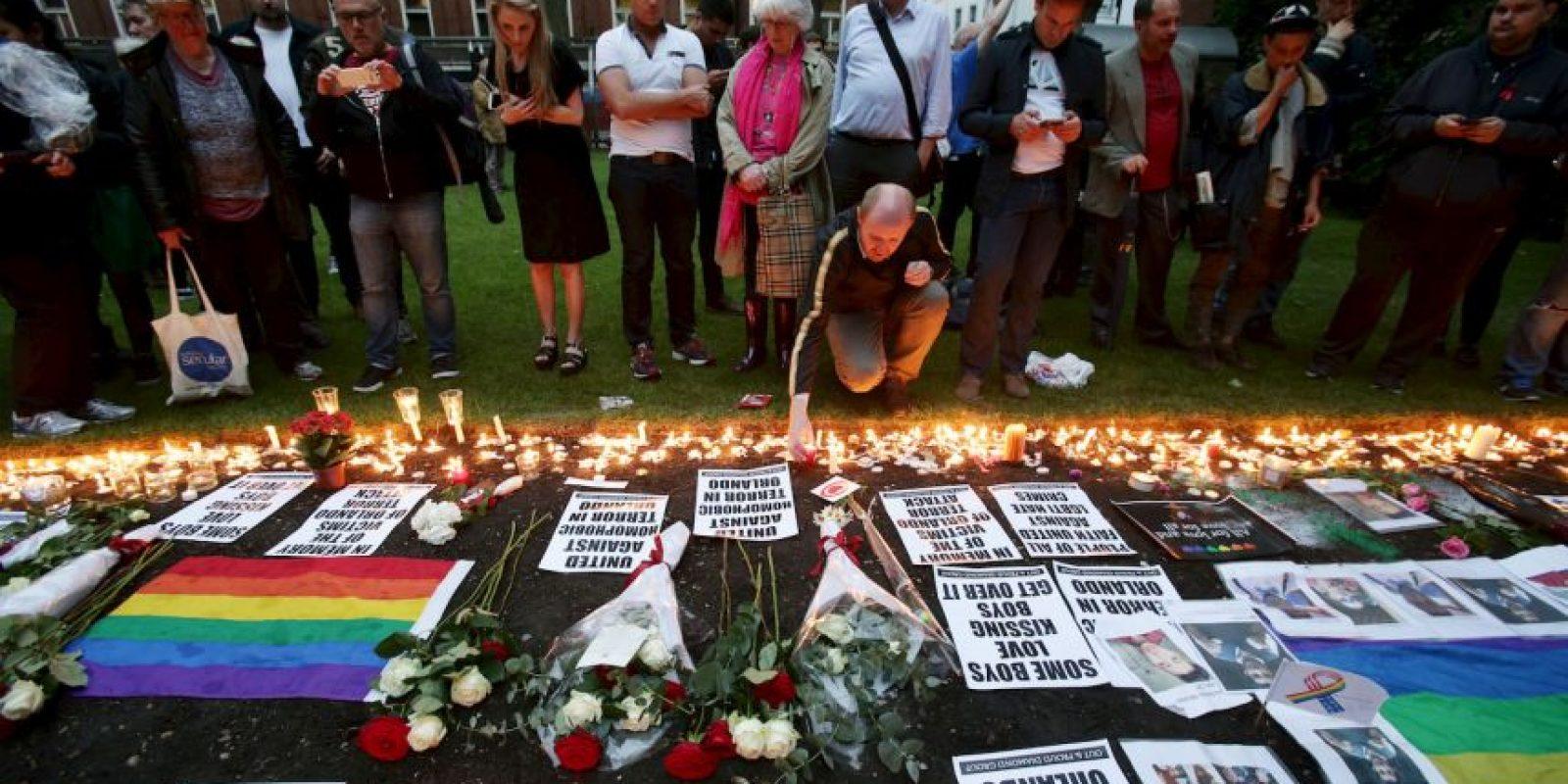 Gente de todo el mundo apoyó a la comunidad LGBT. Foto:AP