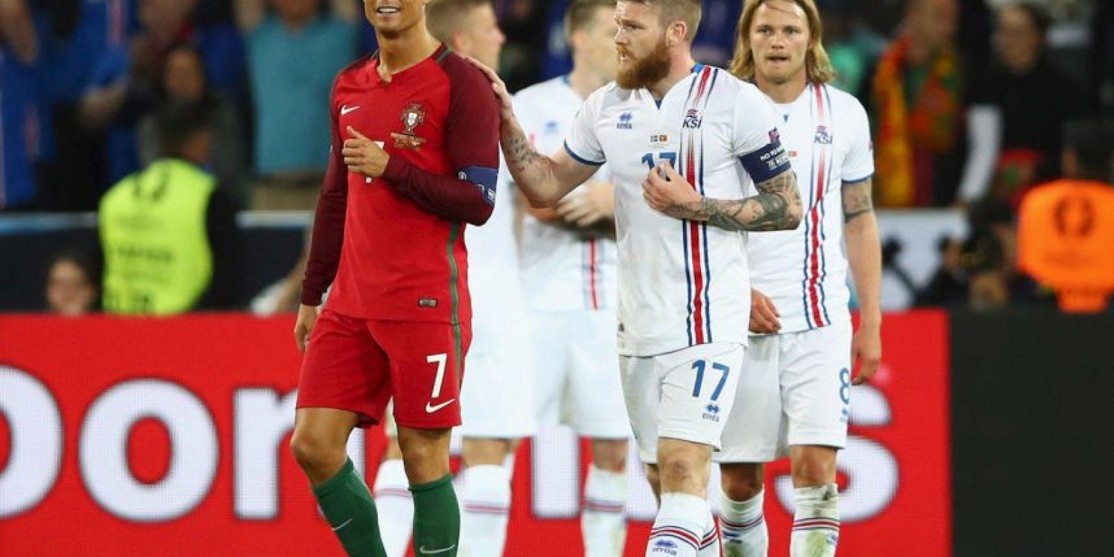 Cristiano Ronaldo poco pudo hacer para ayudar a Portugal a vencer a Islandia Foto:Getty Images