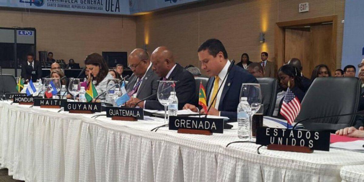 Asamblea de la OEA aprueba declaración de apoyo a Guatemala y Belice