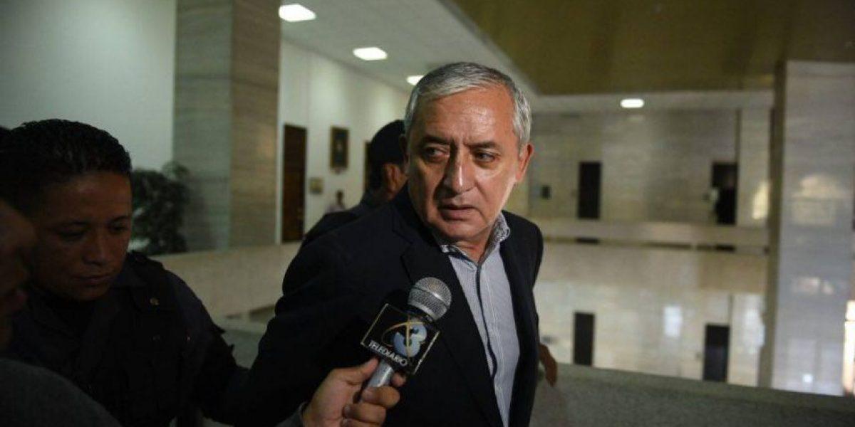 Pérez Molina acusa a la Fiscalía de hacer condenas anticipadas