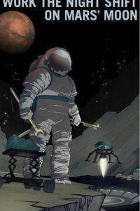 Trabajos nocturnos en la luna Fobos Foto:NASA