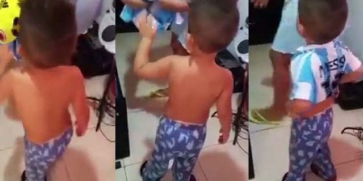 Video. Berrinche de nene colombiano hincha de Argentina se vuelve viral
