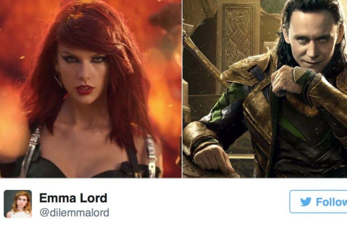 """Loki y Taylor de """"Bad Blood"""" Foto:Twitter"""