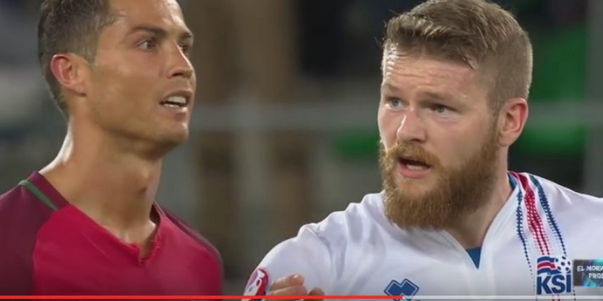 VIDEO. Ronaldo menosprecia a capitán de Islandia y periódico se burla de él