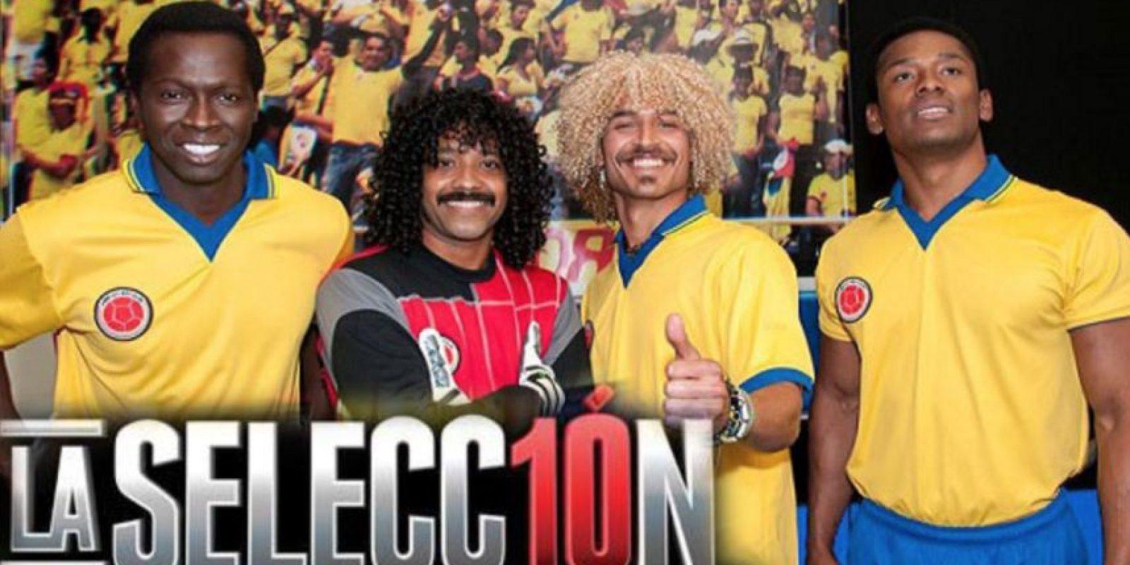 """En 2013 """"La Selección, la serie"""", contó la historia del seleccionado colombiano de fútbol de los años 90. Se narró la vida del """"Pibe"""" Valderrama, Freddy Rincón, El """"Tino"""" Asprilla y René Higuita. Foto:Canal Caracol"""