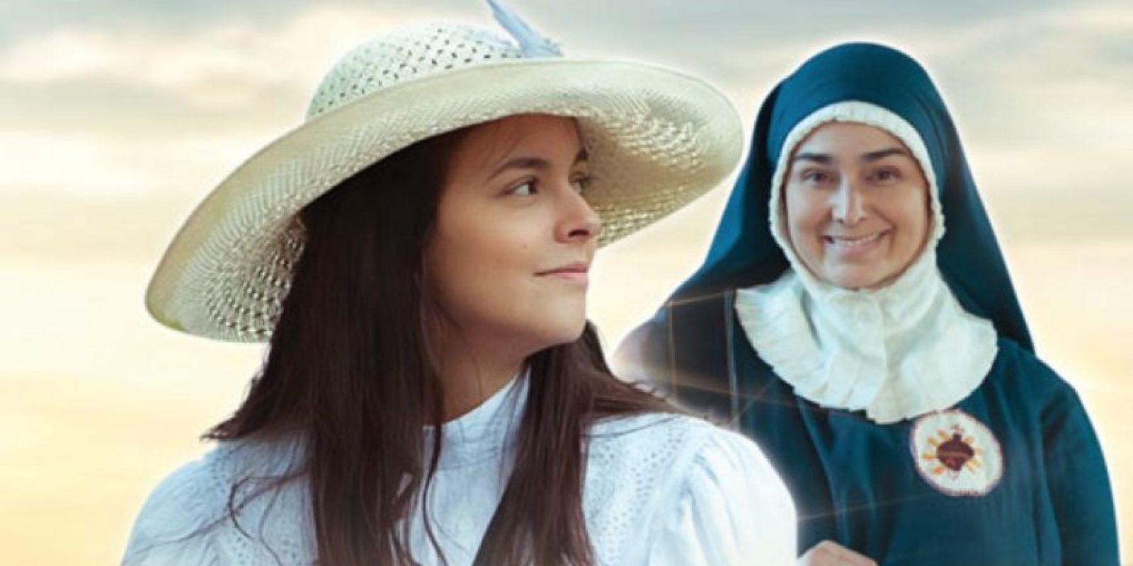 Julieth Restrepo y Linda Lucía Callejas interpretaron a la santa Laura Montoya. Foto:Canal Caracol