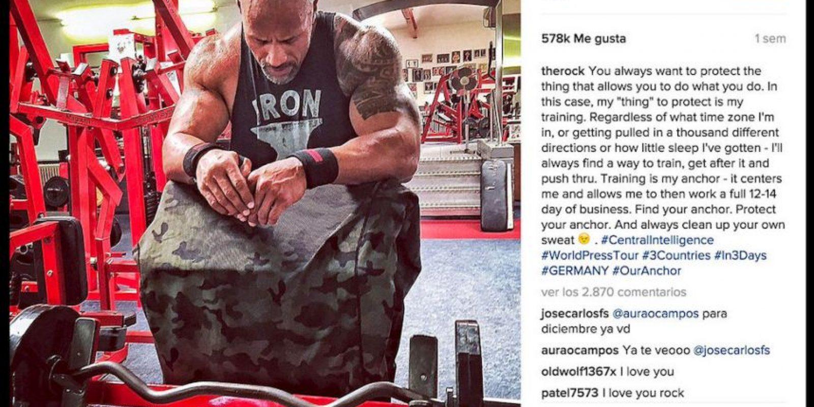 Dwayne Johnson realiza hasta siete comidas al día. Foto:Instagram @therock