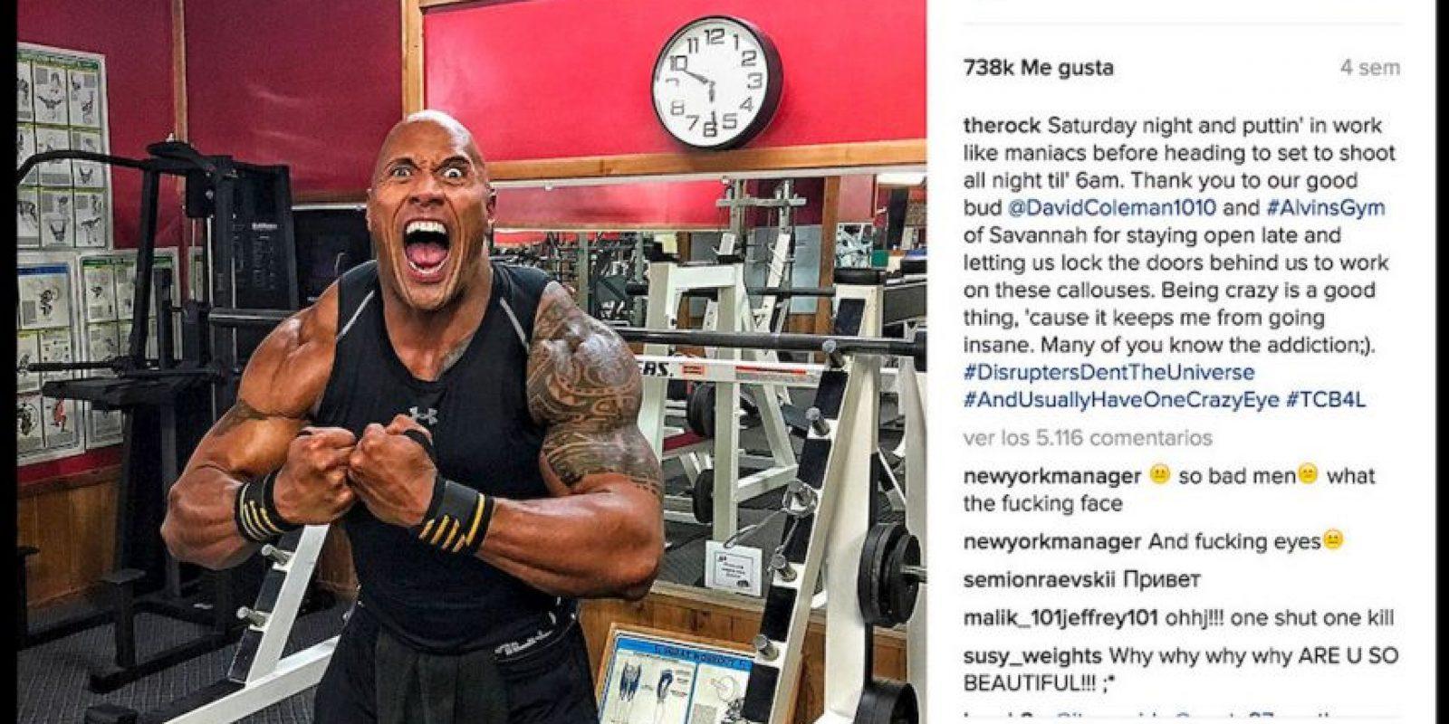 La dieta de la figura de la WWE incluye una considerable proporción de proteínas de origen animal. Foto:Instagram @therock