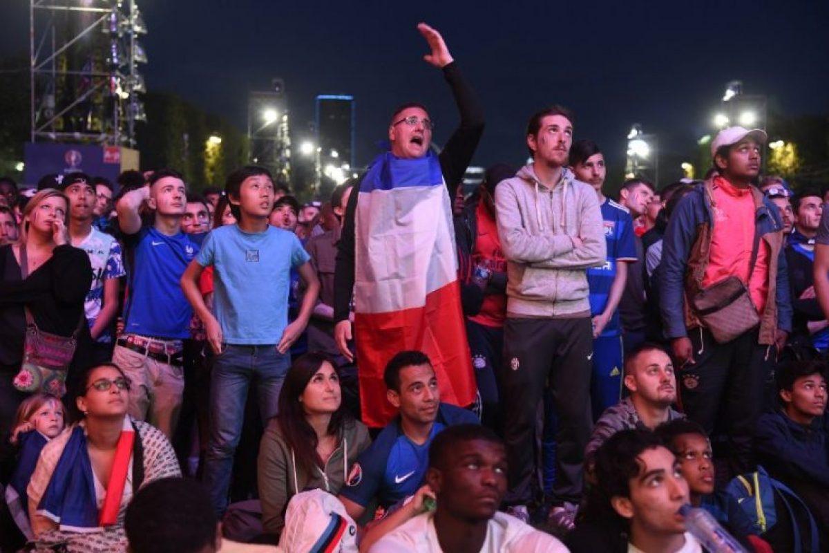 """Los """"Bleus"""" se quedaron cortos en su intento por lograr la marca perfecta. Foto:AFP"""