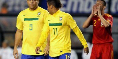 """VIDEO. La lección que """"el Gordito"""" Ronaldo le dio a Neymar Jr"""