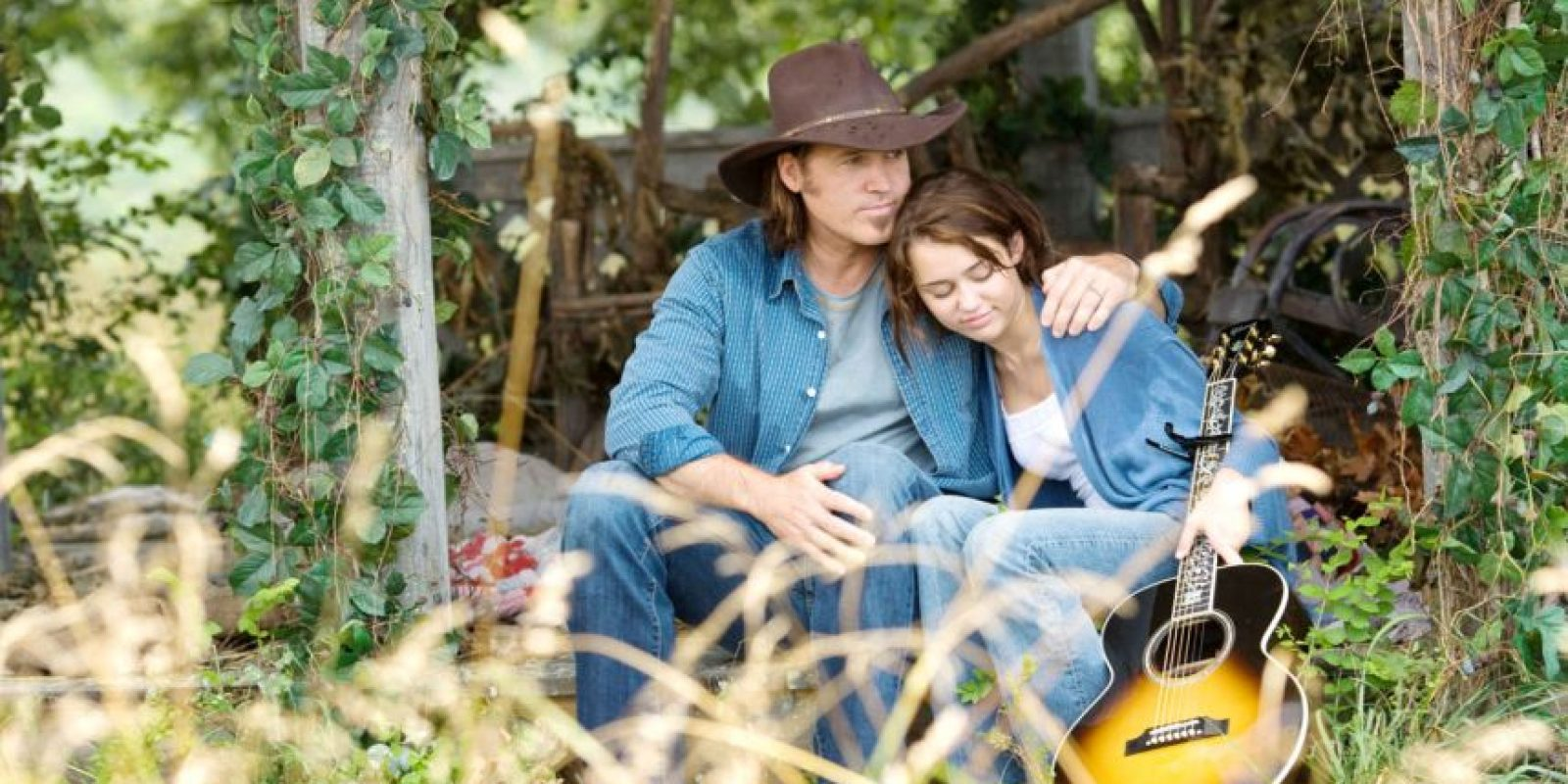 """Billy Ray y Miley Cyrus en la película de """"Hannah Montana"""" Foto:Disney"""