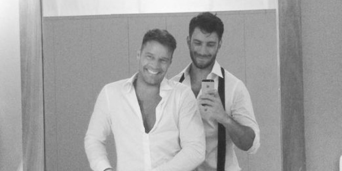 Ricky Martin se deja consentir por su novio en el Día del Padre