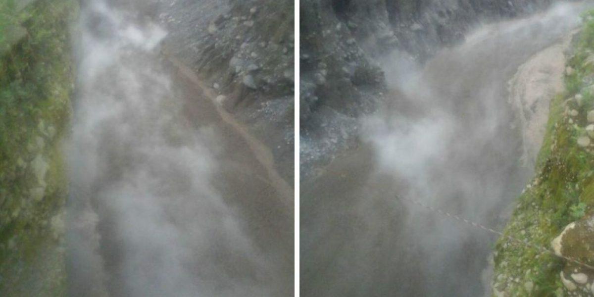 Descenso de sedimento en volcán Santiaguito tras fuertes lluvias
