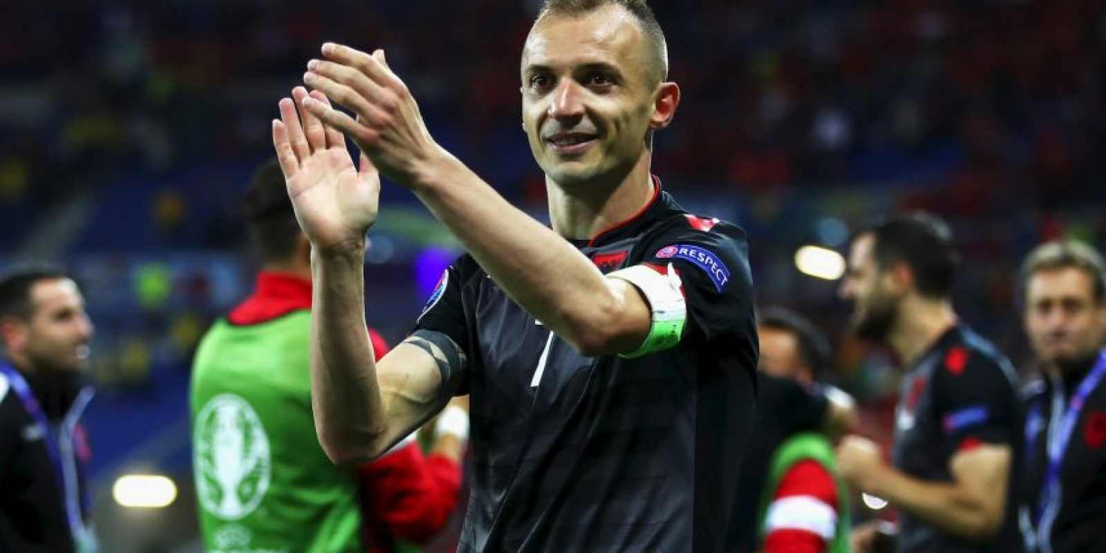 Albania debutaba en una Eurocopa en Francia y consiguió su primera victoria tras vencer a Rumania Foto:Getty Images