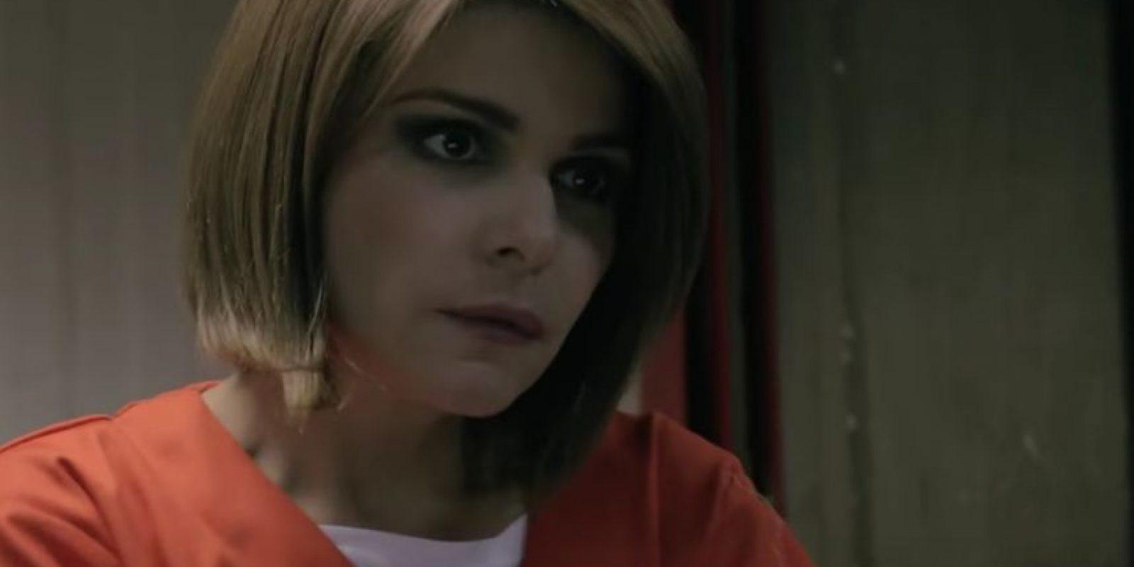 "Itatí Cantoral interpretando a ""Soraya Montenegro"" en ""Orange Is The New Black"". Foto:Captura de pantalla de Twitter"