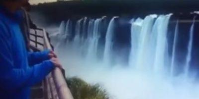 Graban impactante momento en el que un joven se suicida en cataratas del Iguazú