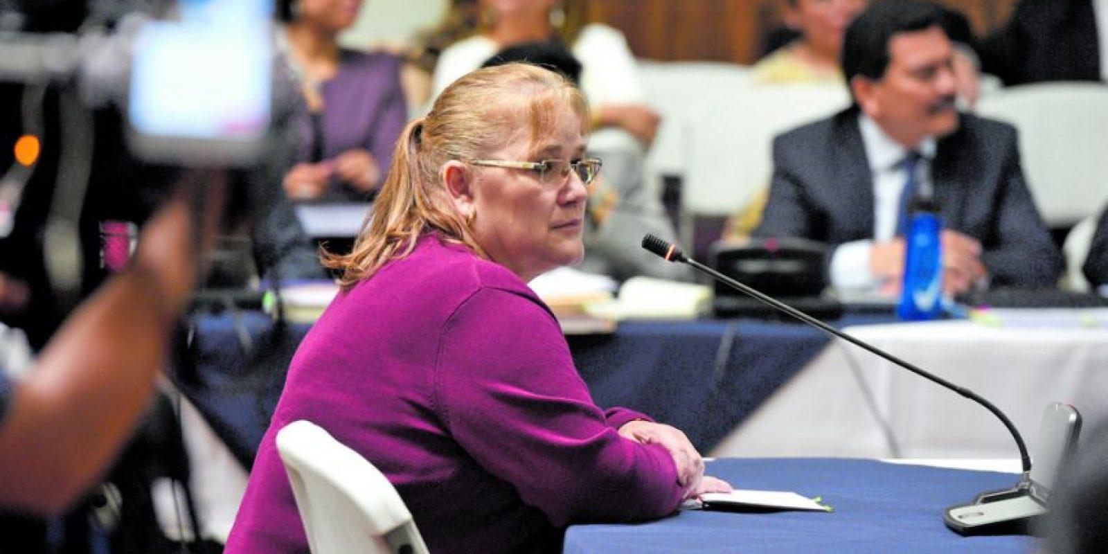 Edna Berganza, exsecretaria de administración financiera del Partido Patriota Foto:Oliver de Ros