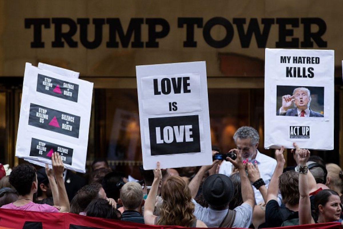 La Torre Trump se convierte en epicentro de protestas a favor y contra el precandidato Foto:Getty Images