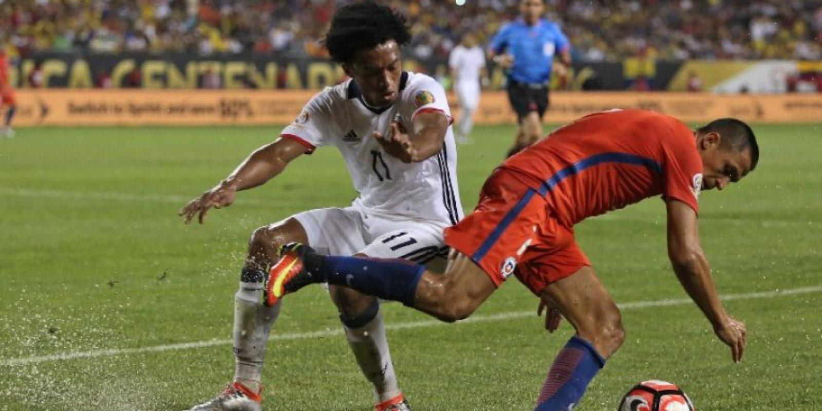 Chile celebró la victoria contra los colombianos en el Soldier Field, en Chicago. Foto:AFP