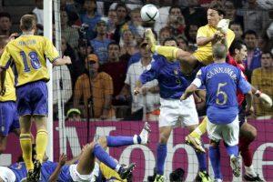 El taco en el aire ante Italia en 2004 ingresa en el listado Foto:Getty Images