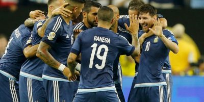Argentina venció cómodamente a Estados Unidos en la semifinal y ahora va por el título de la Copa América Centenari Foto:Getty Images