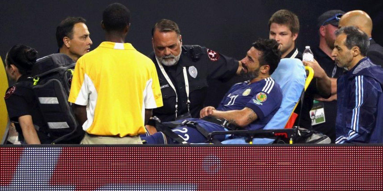 Lavezzi sufrió una luxación de codo y se perderá la final Foto:Getty Images