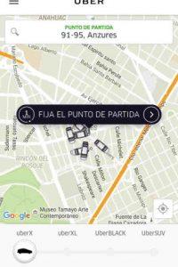 """Para usar UberPool pinchen en """"Fijar el punto de partida"""". Foto:Uber"""