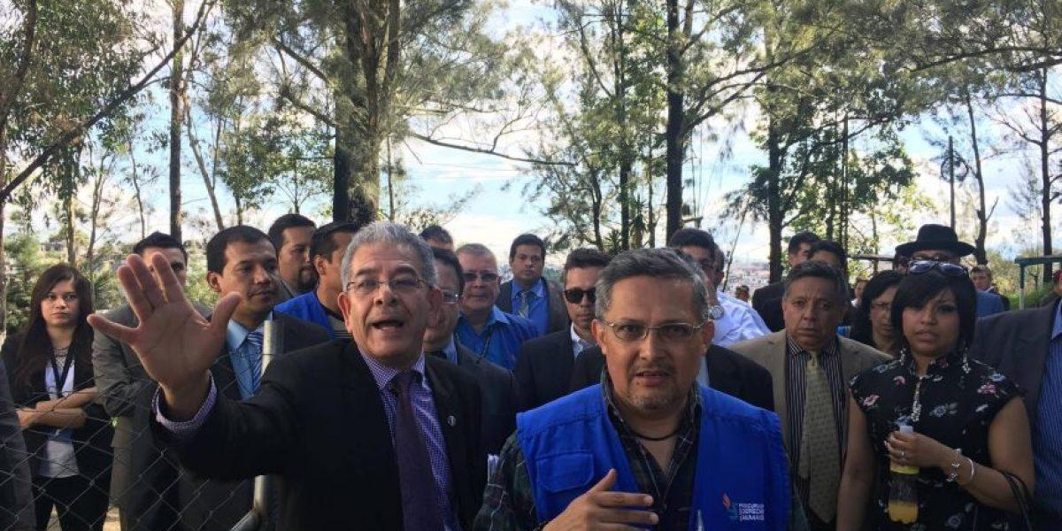 Juez Gálvez supervisa la cárcel en el cuartel Matamoros