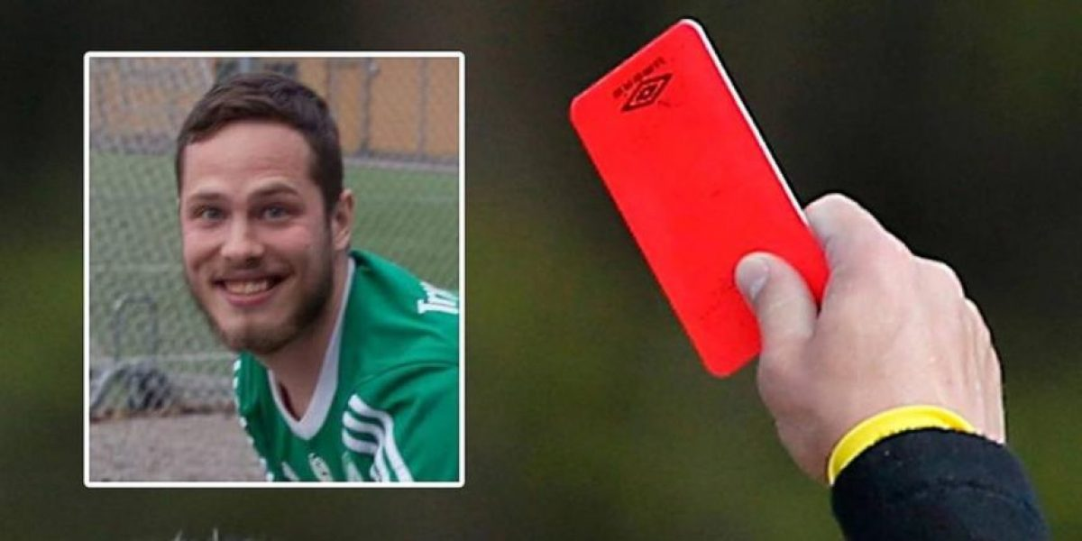 ¡Insólito! Árbitro expulsa a futbolista por tirarse un...