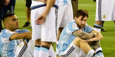Perder el penal fue un golpe durísimo para Lionel Messi Foto:AFP