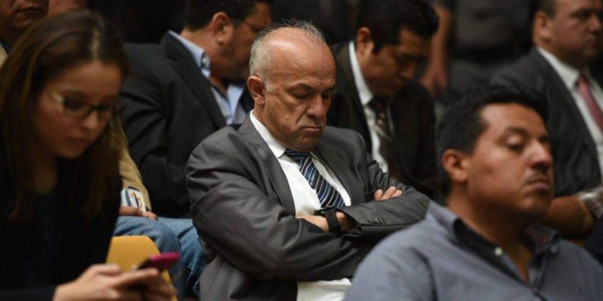 ¿Qué hacían algunos implicados mientras Otto Pérez hablaba ante el juez?
