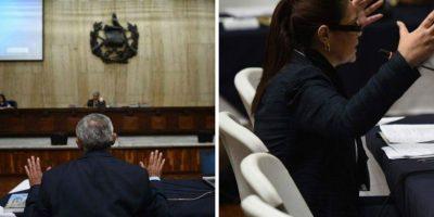 Tuits a tuits, así fue la audiencia de declaración de Otto Pérez y Roxana Baldetti