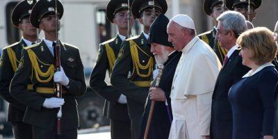 El Papa en su último viaje oficial. Foto:Getty Images