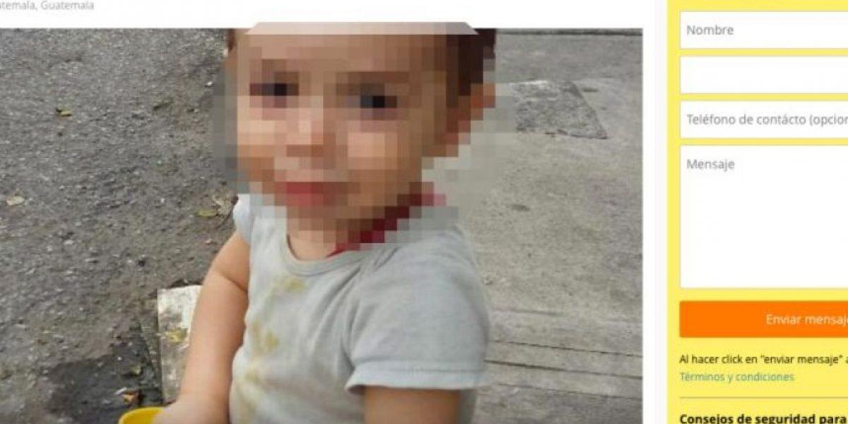 Inician investigaciones por supuesta venta de un niño por internet
