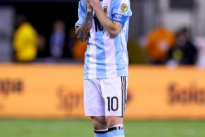 Así sufrió Lionel Messi el bicampeonato de la Selección de Argentina Foto:Getty Images