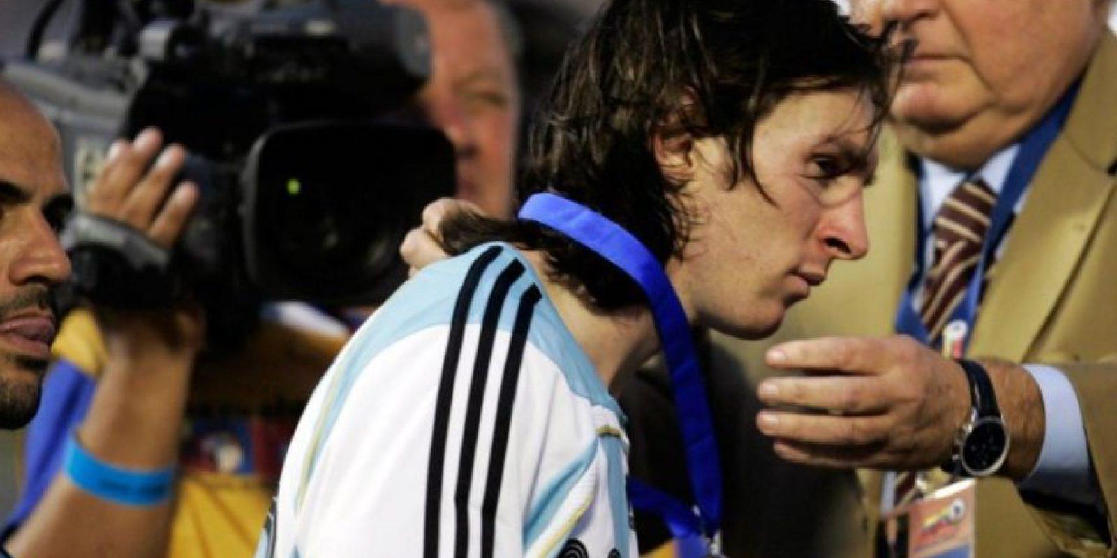 En esa ocasión Argentina perdió 3-0 con Brasil Foto:Getty Images