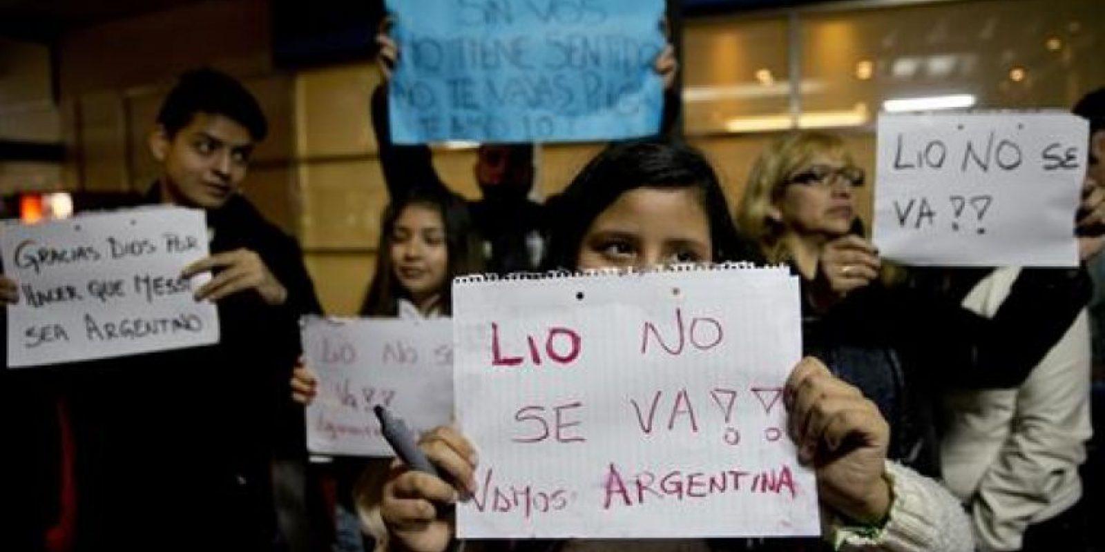 Además de pancartas improvisadas Foto:AP
