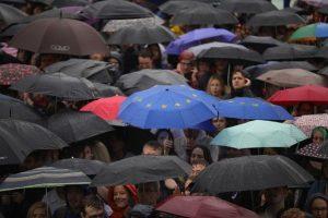"""Miles de jóvenes británicos se manifestaron contra el """"Brexit"""" Foto:Getty Images"""