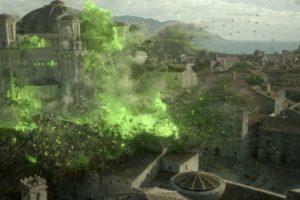Cuando Cersei hace volar el Septo de Baelor con fuego valyrio. Mata a los Tyrell y al Gorrión Supremo. Foto:HBO