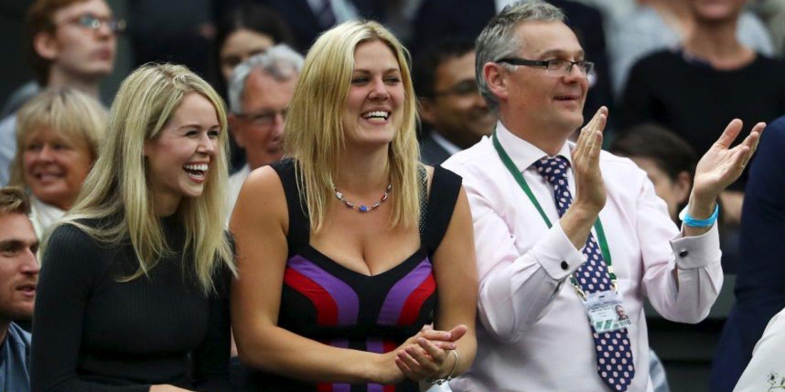 Además de los hinchas, a Marcus Willis lo acompañó su novia (izquierda) y su hermana (derecha) Foto:Getty Images